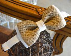 Toile de jute avec noeud accessoires de mariage de toile de