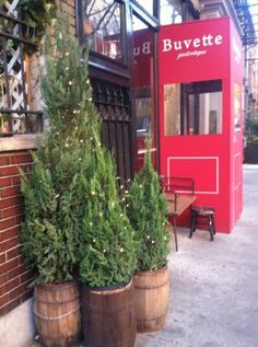 I love this trio of tiny trees outside of restaurant Buvette in the West Village. So simple and beautiful!