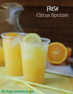 Super easy Citrus Spritzer- so refreshing and a perfect choice for brunch or summer afternoons.