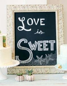 Beach Signs -Decorative Message Chalkboards Ideas.