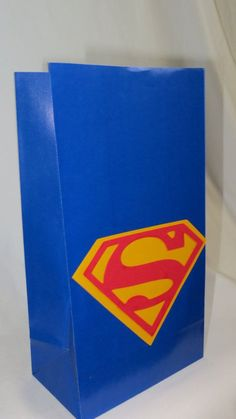 Superman  Party Bags  Birthday bags Goodie bag by JazzyBug on Etsy, $19.99