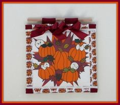 White Babies In the Pumpkin Patch Mini Quilt Decoration