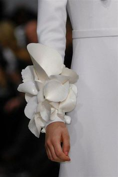 Wearable Art interesting conical sleeve adornments - fashion details // Stéphane Rolland S/S13