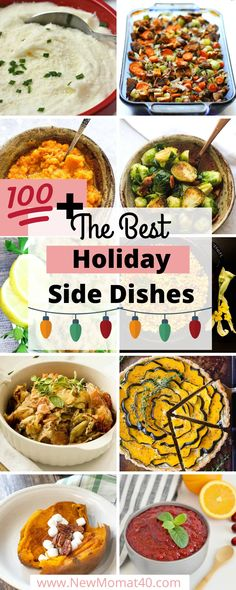 The best Holiday Side Dishes. Every side dish you can think of plus some unique regionals. Mashed potatoes cranberry sauce sweet potatoes casseroles gravy vegetables and more! Best Thanksgiving Side Dishes, Holiday Side Dishes, Thanksgiving Recipes, Holiday Recipes, Holiday Meals, Sweet Potato Souffle, Sweet Potato Biscuits, Sweet Potato Casserole, Potluck Recipes