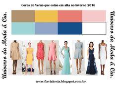 Confira no blog Universo da Moda & Cia., modelos de vestidos estilosos com as cores fashion do Verão e do Inverno 2016, para você se inspirar e arrasar nas estações!