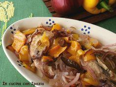 Pollo con i peperoni al forno