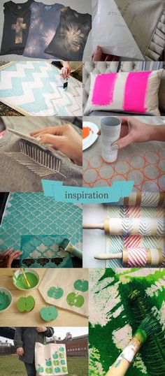 Frou-Frou : Le site d'inspirations et de DIY Diy Arts And Crafts, Creative Crafts, Diy Crafts For Kids, Blog Couture, Fabric Stamping, Couture Sewing, How To Dye Fabric, Fabric Painting, Printing On Fabric