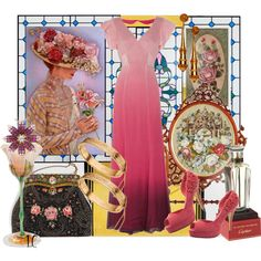 Antiques to Vintage Treasures Today and Forever, visual set created by linda caricofe on Polyvore