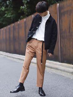 デニムジャケットコーデ✨ パンツの色合い最高過ぎてげちぱねえ... 下のリンクから飛べるので覗