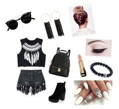 """""""Lazy days❤️"""" by pumpkin-1020 ❤ liked on Polyvore featuring WithChic, Sans Souci, Michael Kors, Bebe and Gucci"""