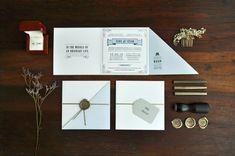 Oh So Beautiful Paper: Tere + César's 1920s Inspired Letterpress Wedding Invitations