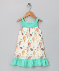 http://www.zulily.com/invite/vhanson979 Take a look at this Aqua Jungle Organic Nina Dress - Infant, Toddler & Girls by Origany on #zulily today!