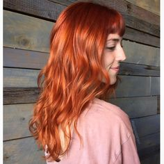 """@bettynicehair): """"Color correction for this babe Danielle came in with dark red hair, with several bands. For our first round we ended with a beautiful copper. I seriously love this color on her it almost looks natural! She is Comic Con ready for sure"""" #bettynicehair"""