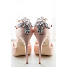 Mikkel Paige Karma Flowers Pink Champagne Paper ❤ liked on Polyvore featuring shoes