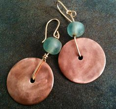 A personal favorite from my Etsy shop https://www.etsy.com/listing/95199719/handmade-copper-beaded-earrings-with