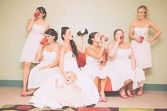 Absolutely hilarious picture with your bridesmaids!