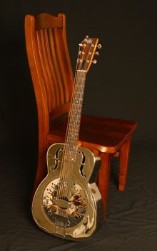 String Resonator  Owned and played by Jeff Martin. Adjustable bass string to bass - baritone - standard scale lengths. He uses this unique set up of the 7th string for slide, extension of open tunings, or as a drone string. Unlike bass strings on harp guitars which are designed for drone strings or backing, the seventh string on this guitar can be played with a slide. Scale length can be changed quickly easily because it is a floating string with no frets interfering causing intonation…