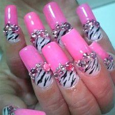 Pink, rhinestones and zebra