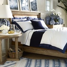I would die to to have my room similar to this blue is my favorite color and just adore combining it with white and lots of patterns