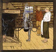 hugo simberg: devil at the cauldron Pick Art, Famous Artwork, Art Database, Helsinki, Gouache, Art History, Devil, Poster Prints, Posters