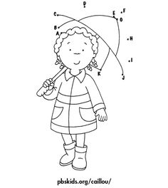 Caillou Coloring Pages 12 Online Coloring Pages, Printable Coloring Pages, Coloring Pages For Kids, Coloring Books, Caillou, Simple Doodles, Connect The Dots, Stick Figures, Diy Home