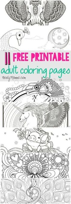 I Love These Free Printable Adult Coloring Pages A Page For Every Level Of