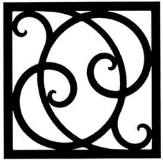 Wall Art, Wrought Iron, Square, Style 215 Made in the USA by Village Wrought Iron