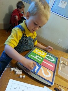 Math tray: Placing t...