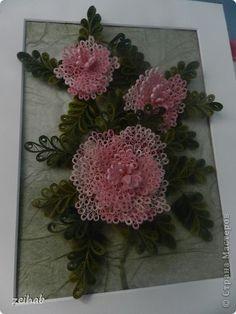 Картина, рисунок, панно Квиллинг: Розы или пионы? Бумажные полосы. Фото 1