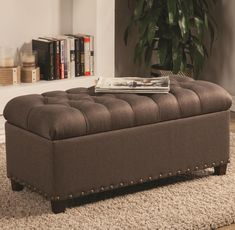 Found it at Wayfair - Tufted Skirted Bedroom Storage Ottoman - in ...