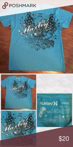 Men's Hurley Tee Shirt Men's Hurley Tee Shirt, size large. See pics for more details. Hurley Tops Tees - Short Sleeve