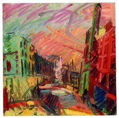 Frank Auerbach: Mornington Crescent, Early Morning, (c) Tate, with kind…