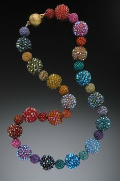 ~~Rainbow Necklace ~ beaded by Lynne Sausele~~