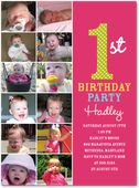 1st Birthday invites!  Love the color and the pictures!