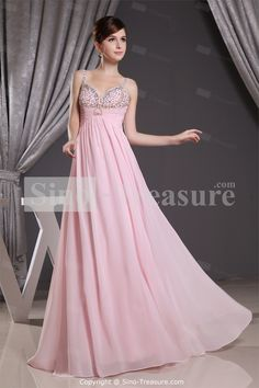 Fantastic Pink Floor-Length Ruched Chiffon A-Line Prom Dress
