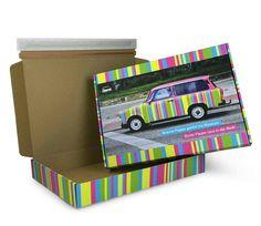 Unser Bunte-Pappe-Muster. Für farbenfrohe Versandboxen! #Trabi #Versandbox #GetYourBoxPrinted