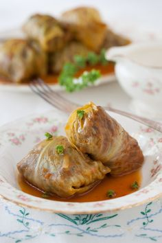 """These Russian Cabbage rolls can easily be made vegetarian or vegan by using eggs or lentils instead of beef. Russian Monday:""""Golubtsy"""" Stuffed Cabbage Rolls at Cooking Melangery Cabbage Rolls Recipe, Cabbage Recipes, Beef Recipes, Cooking Recipes, Healthy Recipes, Healthy Food, Game Recipes, Curry Recipes, Eating Healthy"""