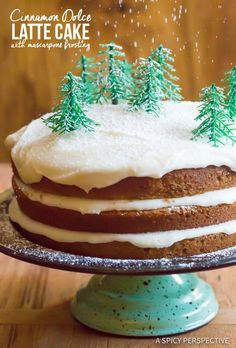 The Ultimate Cinnamon Dolce Latte Cake with Mascarpone Frosting