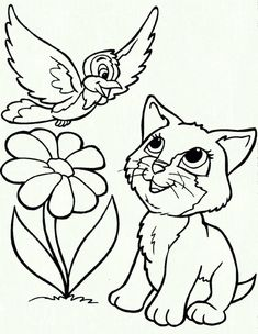 Coloring Page Cat and Dog Coloring Page Cat and Dog. Coloring Page Cat and Dog. Christmas Dog with Cat Coloring Page Stock Vector in cat coloring page Animal Rescue Coloring Book Beautiful Coloring Books Page