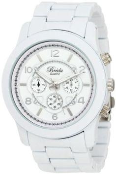 Breda Womens 2308-White Jordan Oversized Boyfriend White Watch