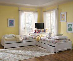 corner twin beds |
