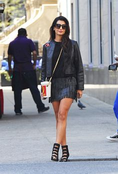 If You Think Amal Clooney Is Chic, Check Out Her Sister Tala Alamuddin Black Leather Bomber Jacket, Leather Jackets, Skirt Pattern Free, Amal Clooney, Black Leather Crossbody Bag, Pippa Middleton, Leather Mini Skirts, Black Suede, Suede Leather