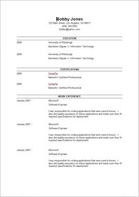 How To Make A Resume For First Job Brilliant Basic Resume Templates  Basic Chronological Resume Template ← Open