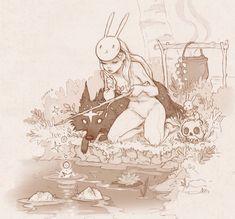 Spacedoge and Bunny Girl, Chiara Bautista, Mixed, Various Art And Illustration, Illustrations, Geeks, Chiara Bautista, Arte Horror, Wow Art, Amazing Art, Art Reference, Character Art