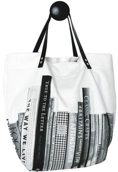My next book bag. Wouldn't it be fun if you could customize the titles?