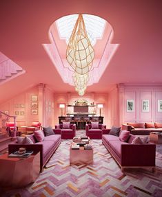 The Helmi Luminaire designed by Cameron Design House and made in London England. The Pink Room inspired by Wes Anderson Wes Anderson Style, Home Design, Interior Design, Decoration Bedroom, Room Decor, Architecture Restaurant, Architecture Design, Interior Minimalista, Luminaire Design