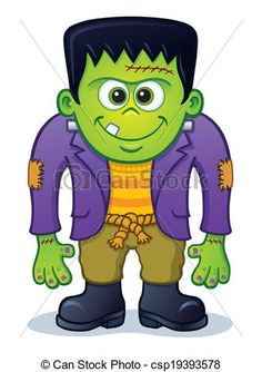 cute halloween monster clip art | Cute Frankenstein Cartoon Drawing frankenstein illustrations and stock ...