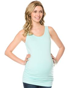 Motherhood Maternity Ruched Tank Top