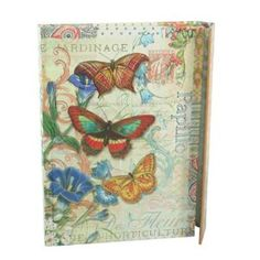 Rustic Butterfly Punch Studio Magnetic Closure Journal