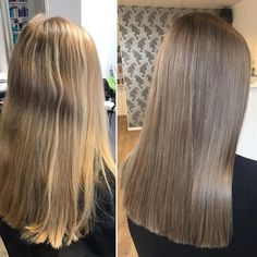 Recept: IC 7/81 och lite 6/16 i botten, 7/81, 6/16 och lite 8/13 på resten, allt med 1,9%. #frisörängelholm #novembersalongen #föreefter #beforeandafter #modernsalon #behindthechair #wella #wellahair #wellaeducation #illumina #illuminacolor #longhair #brunette #brownhair #ashbrown #coolbrown #shinyhair